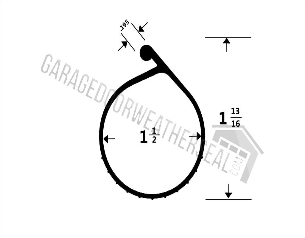 p-bulb-garage-door-seal P Bulb Garage Door Seal