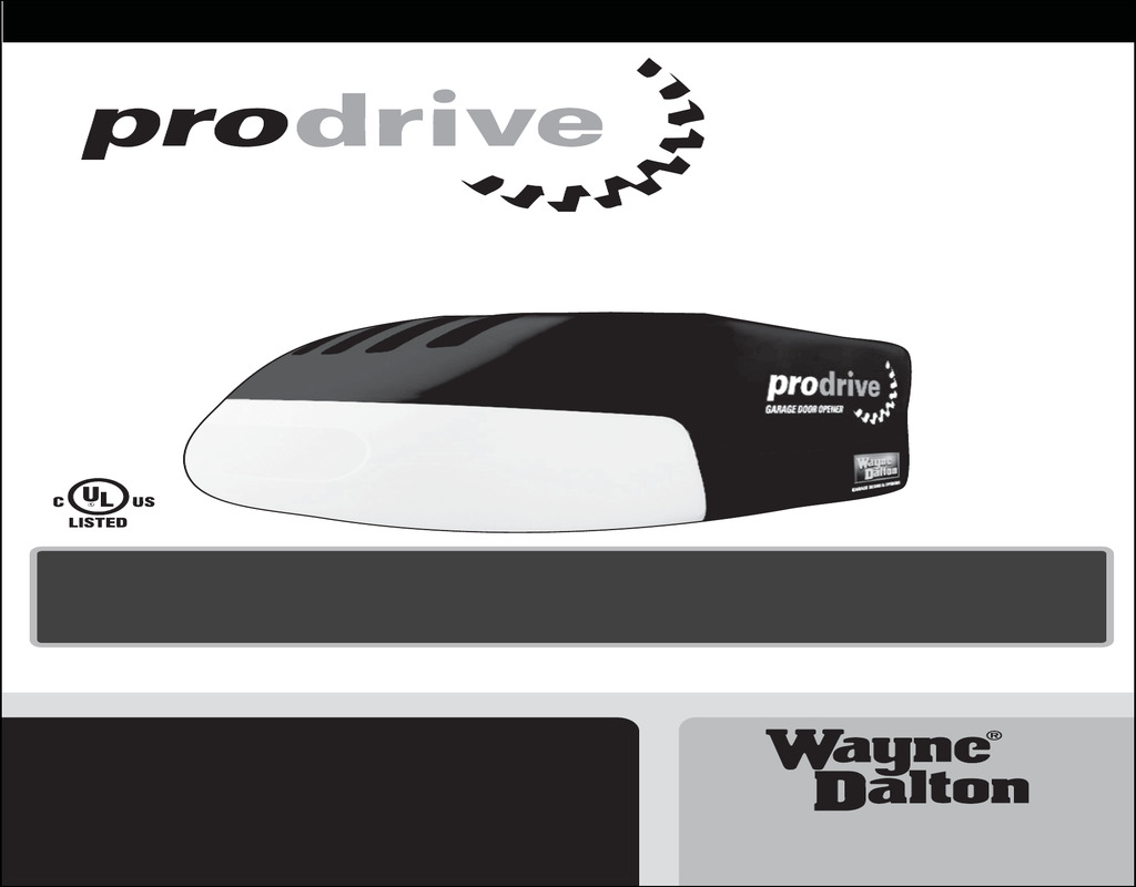 Prodrive Garage Door Opener Garage Doors Repair