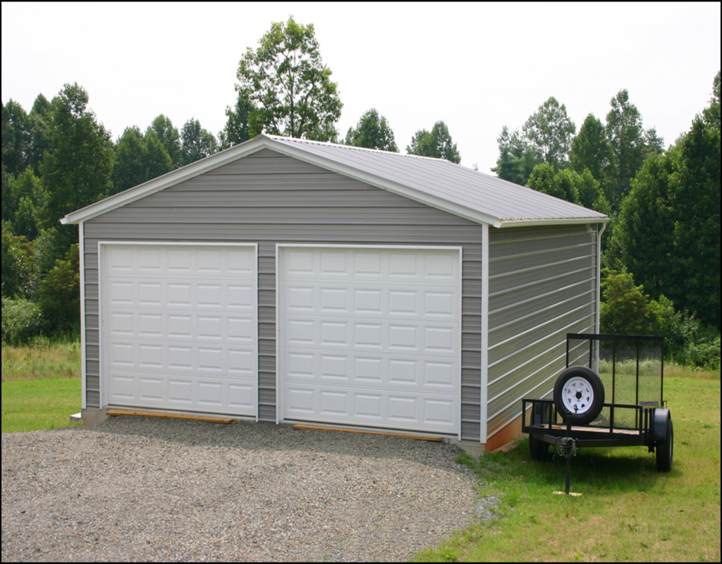 two-car-garage-kits Two Car Garage Kits