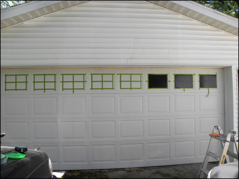 Beau Add Windows To Garage Door