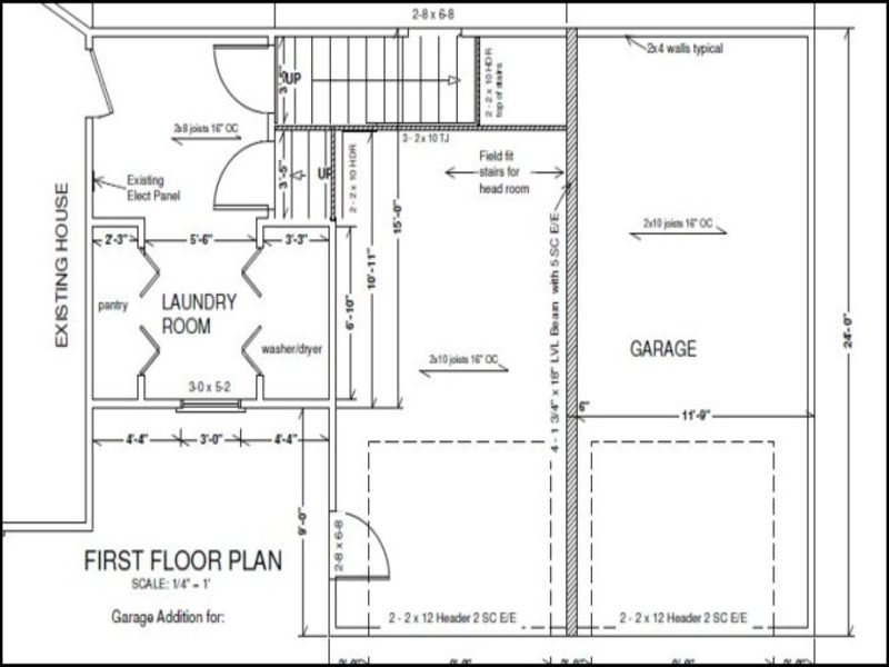 Attached Garage Addition Plans Garage Doors Repair