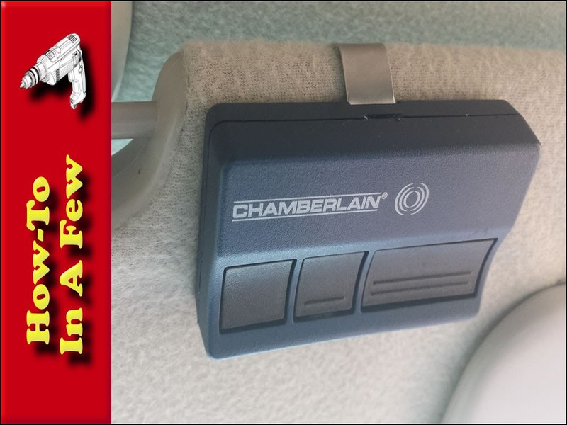 Chamberlain Garage Door Opener Remote Battery Garage
