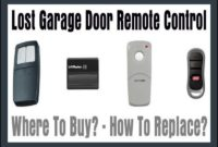 Lost Garage Door Opener