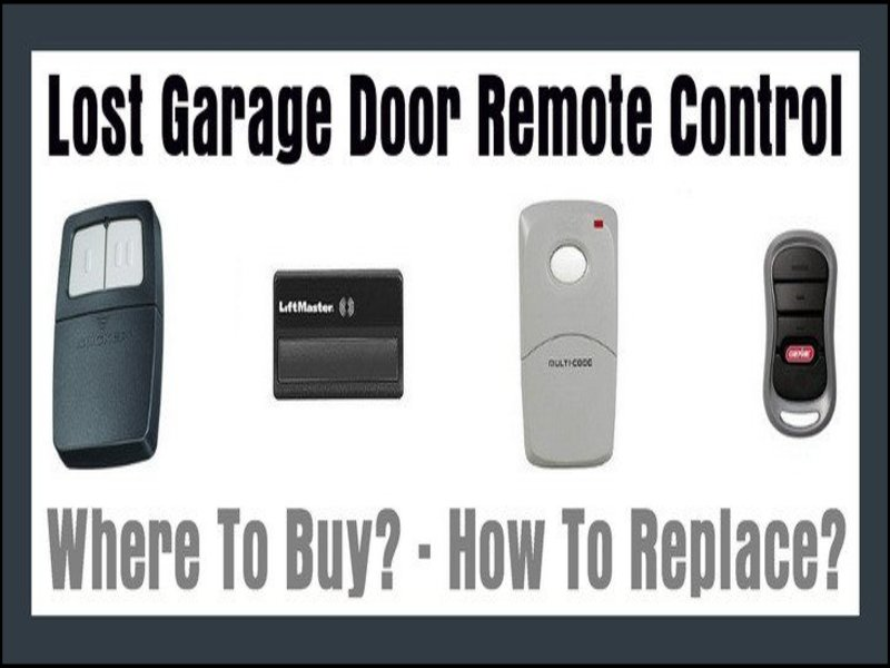 Lost Garage Door Opener Garage Doors Repair