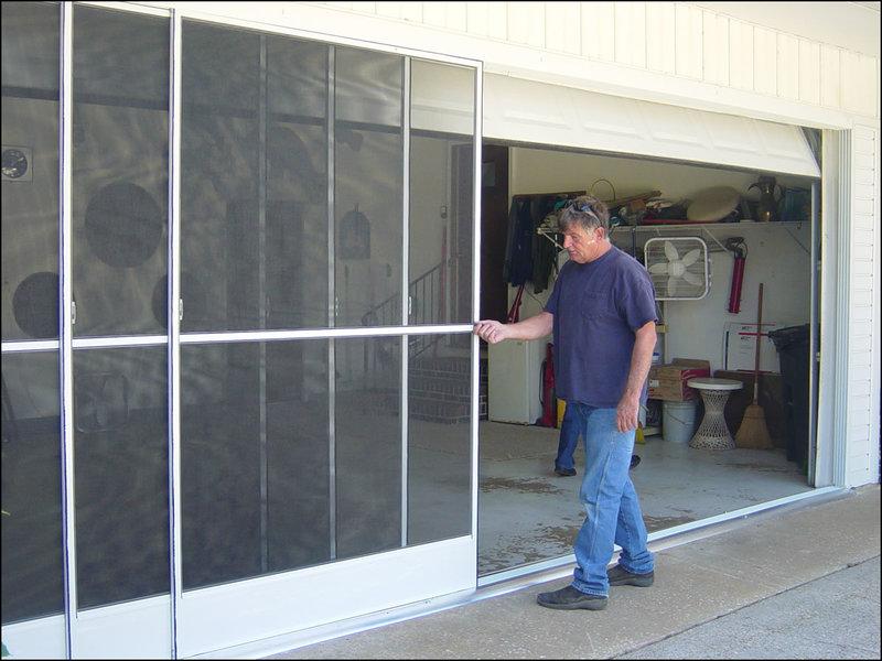 sliding-garage-door-screens Sliding Garage Door Screens