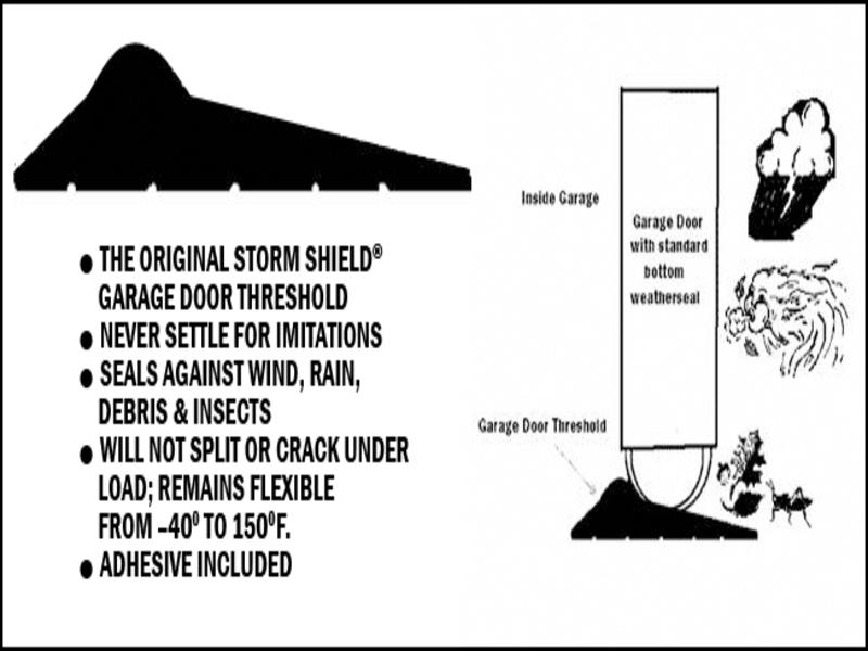 Storm Shield Garage Door Threshold Garage Doors Repair