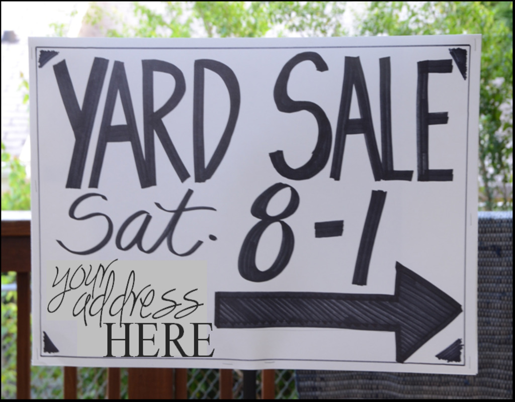 garage-sale-signs-with-stakes Garage Sale Signs With Stakes