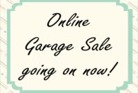 Online Garage Sale Website